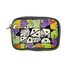 Multicolored Tribal Print Abstract Art Coin Purse