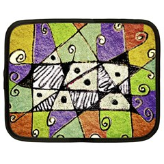Multicolored Tribal Print Abstract Art Netbook Sleeve (xl)