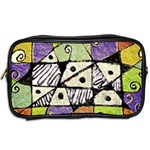 Multicolored Tribal Print Abstract Art Travel Toiletry Bag (Two Sides) Back