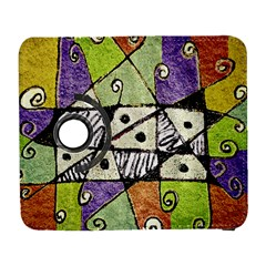 Multicolored Tribal Print Abstract Art Samsung Galaxy S  III Flip 360 Case
