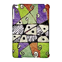 Multicolored Tribal Print Abstract Art Apple Ipad Mini Hardshell Case (compatible With Smart Cover)