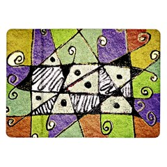 Multicolored Tribal Print Abstract Art Samsung Galaxy Tab 10.1  P7500 Flip Case