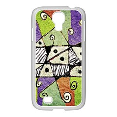 Multicolored Tribal Print Abstract Art Samsung GALAXY S4 I9500/ I9505 Case (White)