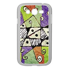 Multicolored Tribal Print Abstract Art Samsung Galaxy Grand Duos I9082 Case (white)