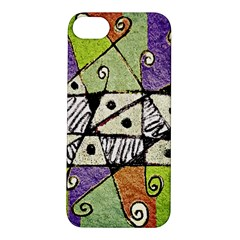 Multicolored Tribal Print Abstract Art Apple iPhone 5S Hardshell Case
