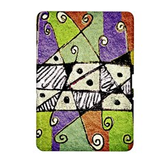 Multicolored Tribal Print Abstract Art Samsung Galaxy Tab 2 (10.1 ) P5100 Hardshell Case