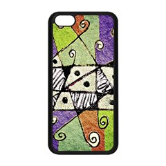 Multicolored Tribal Print Abstract Art Apple iPhone 5C Seamless Case (Black)