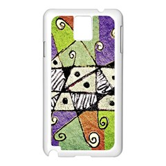 Multicolored Tribal Print Abstract Art Samsung Galaxy Note 3 N9005 Case (White)