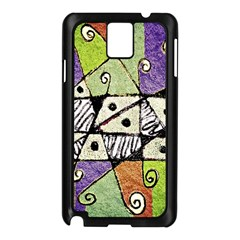 Multicolored Tribal Print Abstract Art Samsung Galaxy Note 3 N9005 Case (Black)