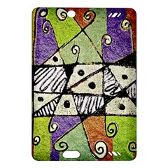 Multicolored Tribal Print Abstract Art Kindle Fire HD (2013) Hardshell Case