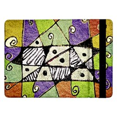 Multicolored Tribal Print Abstract Art Samsung Galaxy Tab Pro 12.2  Flip Case