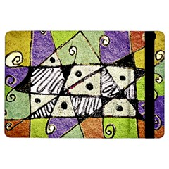 Multicolored Tribal Print Abstract Art Apple Ipad Air Flip Case