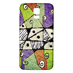 Multicolored Tribal Print Abstract Art Samsung Galaxy S5 Back Case (white)