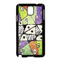 Multicolored Tribal Print Abstract Art Samsung Galaxy Note 3 Neo Hardshell Case (Black)