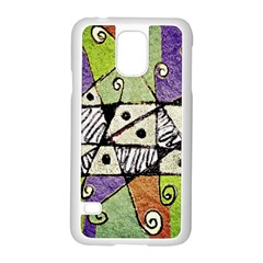 Multicolored Tribal Print Abstract Art Samsung Galaxy S5 Case (white)