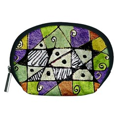 Multicolored Tribal Print Abstract Art Accessory Pouch (Medium)