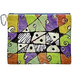 Multicolored Tribal Print Abstract Art Canvas Cosmetic Bag (xxxl)