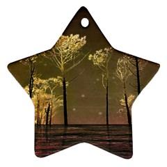 Fantasy Landscape Star Ornament