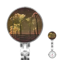 Fantasy Landscape Stainless Steel Nurses Watch