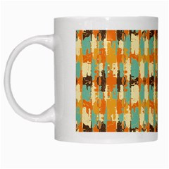 Shredded Abstract Background White Mug