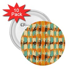 Shredded Abstract Background 2 25  Button (10 Pack)