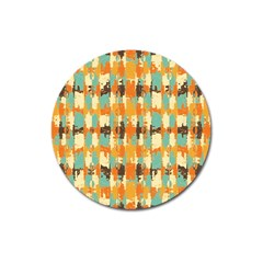 Shredded Abstract Background Magnet 3  (round)