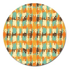 Shredded Abstract Background Magnet 5  (round)
