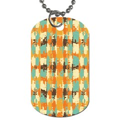 Shredded Abstract Background Dog Tag (two Sides)