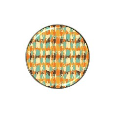 Shredded Abstract Background Hat Clip Ball Marker