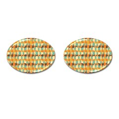 Shredded Abstract Background Cufflinks (oval)