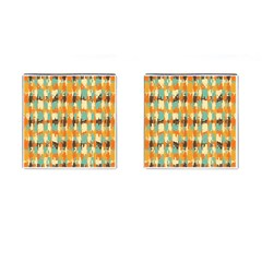 Shredded Abstract Background Cufflinks (square)