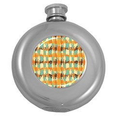 Shredded Abstract Background Hip Flask (5 Oz)