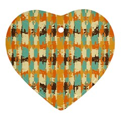 Shredded Abstract Background Heart Ornament (two Sides)