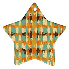 Shredded Abstract Background Star Ornament (two Sides)