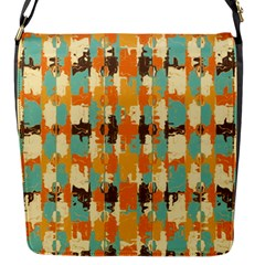 Shredded Abstract Background Flap Closure Messenger Bag (small)