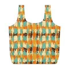 Shredded Abstract Background Full Print Recycle Bag (l)