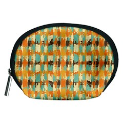 Shredded abstract background Accessory Pouch (Medium)