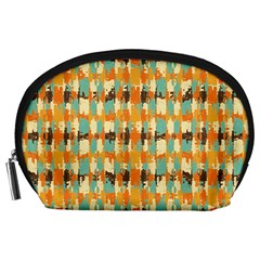 Shredded abstract background Accessory Pouch (Large)