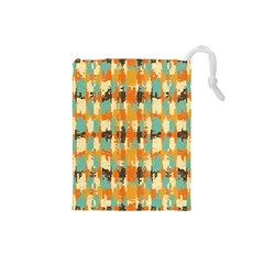 Shredded abstract background Drawstring Pouch (Small)
