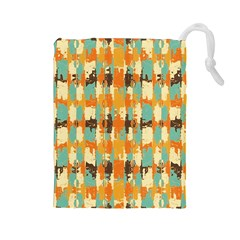 Shredded abstract background Drawstring Pouch (Large)