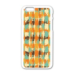 Shredded abstract background Apple iPhone 6 White Enamel Case