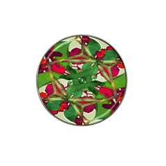 Floral Print Colorful Pattern Golf Ball Marker 4 Pack (for Hat Clip)