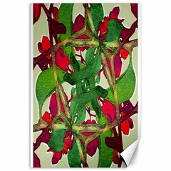 Floral Print Colorful Pattern Canvas 24  X 36  (unframed)