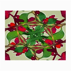 Floral Print Colorful Pattern Glasses Cloth (small, Two Sided)
