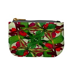 Floral Print Colorful Pattern Coin Change Purse