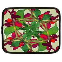 Floral Print Colorful Pattern Netbook Sleeve (xxl)
