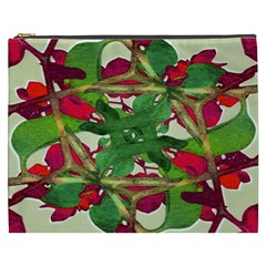 Floral Print Colorful Pattern Cosmetic Bag (xxxl)