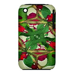 Floral Print Colorful Pattern Apple Iphone 3g/3gs Hardshell Case (pc+silicone)