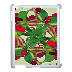 Floral Print Colorful Pattern Apple Ipad 3/4 Case (white)