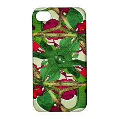 Floral Print Colorful Pattern Apple Iphone 4/4s Hardshell Case With Stand